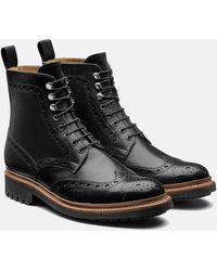 GRENSON | Fred Brogue Boot (hand Painted) | Lyst