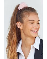 Urban Outfitters - Fuzzy Scrunchie - Lyst