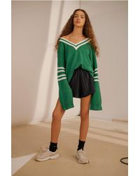 Urban Outfitters - Uo Varsity Striped Navy Jumper - Lyst
