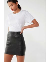 Urban Renewal - Vintage Customised Black Leather Skirt - Womens S - Lyst