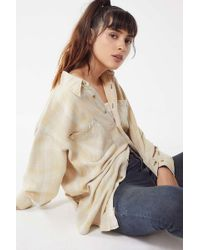 Urban Renewal - Vintage Overdyed Button-down Flannel Shirt - Lyst