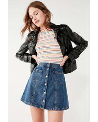 BDG - Denim Button-front Skirt - Lyst