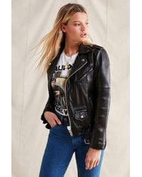 Urban Outfitters - Pelechecoco Leather Moto Jacket - Lyst