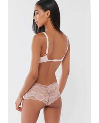 Urban Outfitters - Sheer Lace Boyshort - Lyst