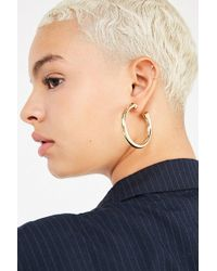 Urban Outfitters | Chunky Hollow Hoop Earring | Lyst