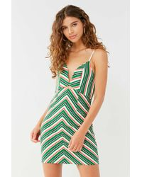 Line & Dot - '70s Striped Mini Dress - Lyst