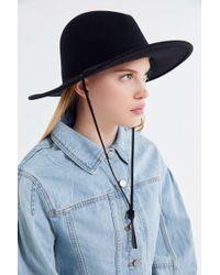 Lyst - Brixton Deadwood Hat in Black 3630a46406d