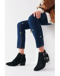 Urban Outfitters - Talia Suede Buckle Ankle Boot - Lyst