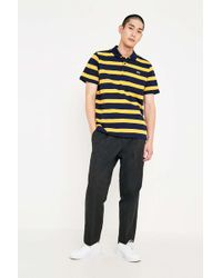 Lacoste - Yellow Striped Polo Shirt - Mens S - Lyst