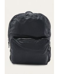 Urban Outfitters - Black Pebbled Faux Leather Backpack - Lyst