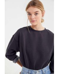 4239ef9e Urban Outfitters Uo Landon Washed Crew Neck Sweatshirt in Black - Lyst