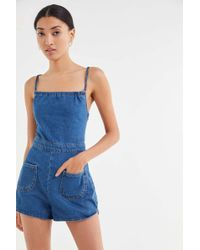 1c0098f416 Urban Outfitters · BDG - Graham Denim Strappy Tie-back Romper - Lyst