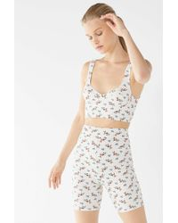 Urban Outfitters - Uo Christy Floral Bike Short - Lyst