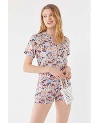 Urban Outfitters - Uo Beach Print Button-down Shirt - Lyst