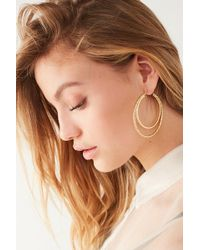 Urban Outfitters - Diamond-cut Doubled Hoop Earring - Lyst