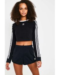 adidas Originals - 3-stripe Black Shorts - Lyst