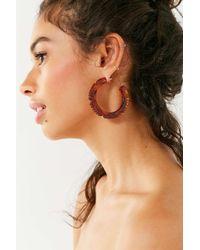 Adia Kibur - Ridged Resin Hoop Earring - Lyst
