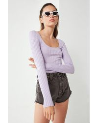 Urban Outfitters - Uo Sage Scoop-neck Pullover Sweater - Lyst