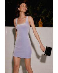 Urban Outfitters - Uo Hailey Velvet Square-neck Mini Dress - Lyst