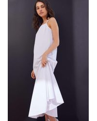 0edaf99a609a Urban Renewal Remade Sheer Mesh Midi Slip Dress in Black - Lyst