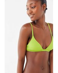 e581541a7124c Out From Under Solid Halter Bikini Top in Green - Lyst