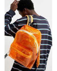 Tommy Hilfiger - Logo Tape Orange Clear Backpack - Mens All - Lyst