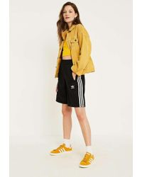 adidas Originals - Black Popper Placket Shorts - Womens S - Lyst