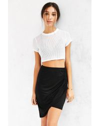Truly Madly Deeply - Twist-front Midi Skirt - Lyst