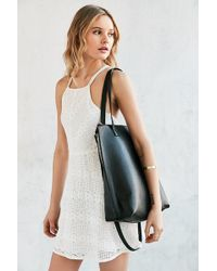 Silence + Noise - Zip Pebbled Vegan Leather Tote Bag - Lyst