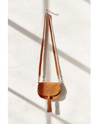 Ecote - Leanne Suede Saddle Bag - Lyst