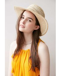 Ecote | Geo Straw Packable Boater Hat | Lyst