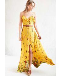 Kimchi Blue - La Playa Button-down Maxi Dress - Lyst