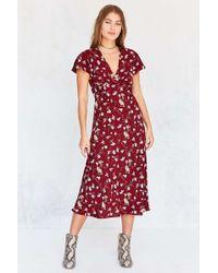 Kimchi Blue - Flutter-sleeve Empire Waist Midi Dress - Lyst
