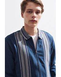 Urban Outfitters - Uo Blocked Full Zip Polo Shirt - Lyst