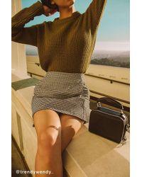 Cooperative - Gingham Side-pocket Mini Skirt - Lyst
