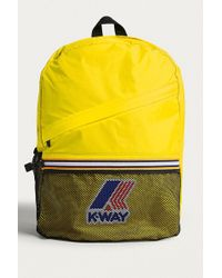 K-Way - Yellow Packable Backpack - Lyst
