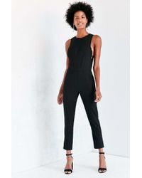 Kensie - Modern Sleeveless Crepe Jumpsuit - Lyst