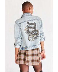 BDG - Embroidered Denim Trucker Jacket - Lyst