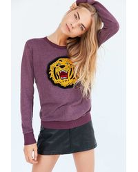 Truly Madly Deeply - Embroidered Tiger Pullover Sweatshirt - Lyst
