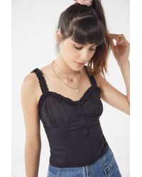 Urban Outfitters - Uo Raquel Button-down Cami - Lyst