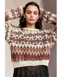Urban Renewal - Remade Cropped Fair Isle Sweater - Lyst