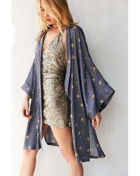 Kimchi Blue - Star Print Kimono Jacket - Lyst