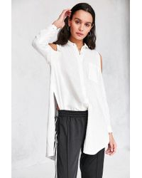 Silence + Noise - Ciara Cold Shoulder Button-down Shirt - Lyst