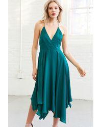 Kimchi Blue - Vida Satin Handkerchief Midi Dress - Lyst