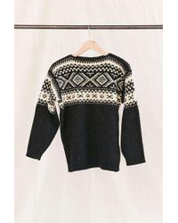 Urban Renewal - Vintage Nordic Charcoal Sweater - Lyst