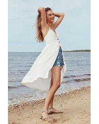 Cooperative - Emilia Linen Button-down Midi Dress - Lyst