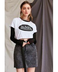 Urban Renewal - Recycled Corduroy Mini Skirt - Lyst