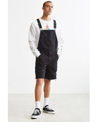 BDG - Destructed Denim Overall Short - Lyst