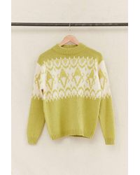 Urban Renewal - Vintage Green/cream Sweater - Lyst