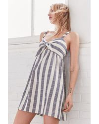 Cooperative - Tie-front Striped Mini Dress - Lyst
